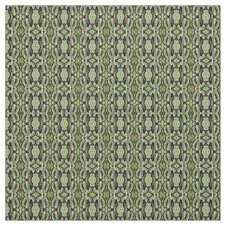 Green Leaf Print Pattern Fabric