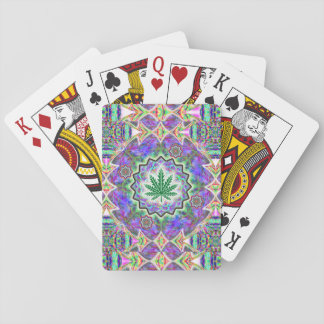 Green Leaf sparkle Playing Cards
