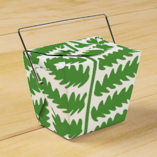 Green Leaf Take Out Favor Box