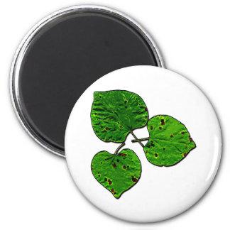 Green Leaf Trio 2 Inch Round Magnet