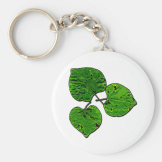 Green Leaf Trio Keychain
