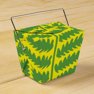 Green Leaf Yellow Take Out Favor Box