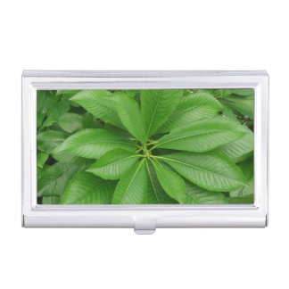 Green Leafs Business Card Holder