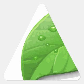 Green Leafs Triangle Sticker