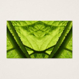 Green Leafy Digital Art. Business Card