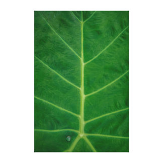 Green Leafy Structure Canvas Print