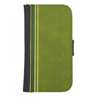 Green Leather and Suede Textured Wallet Style Case Phone Wallets