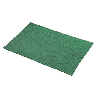 Green Leather Placemat