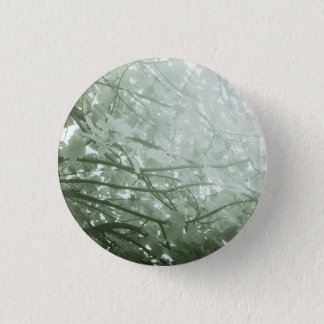 Green Leaves 1 Inch Round Button