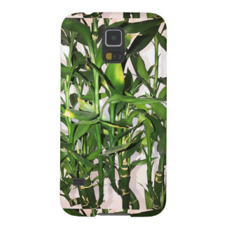 Green leaves and bamboo shoots house plant galaxy s5 cases