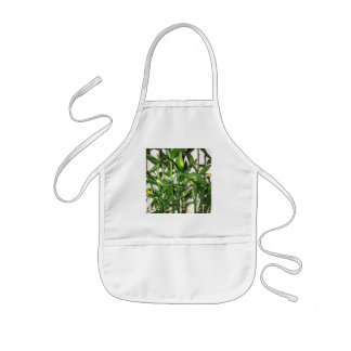 Green leaves and bamboo shoots house plant kids apron