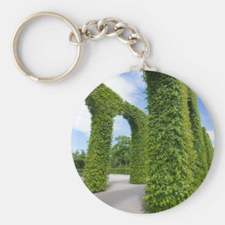 Green leaves arches keychain