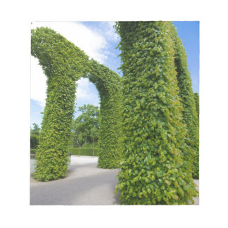 Green leaves arches notepad