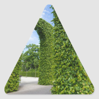Green leaves arches triangle sticker