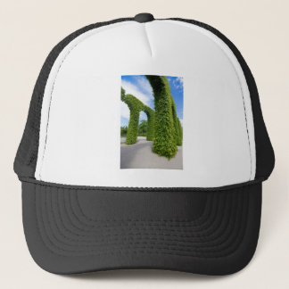 Green leaves arches trucker hat