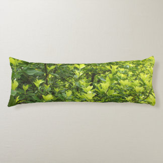 Green Leaves Body Pillow