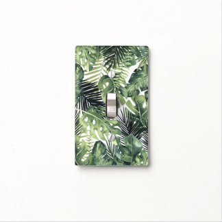 Green Leaves Botanical Tropical Plants Greenery Light Switch Cover