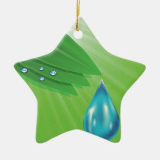 green leaves ceramic ornament
