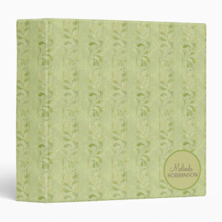 Green Leaves Custom Binder