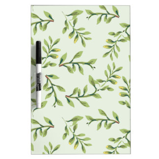 Green Leaves Dry Erase Board