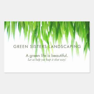 Green Leaves Earth Friendly Design Sticker