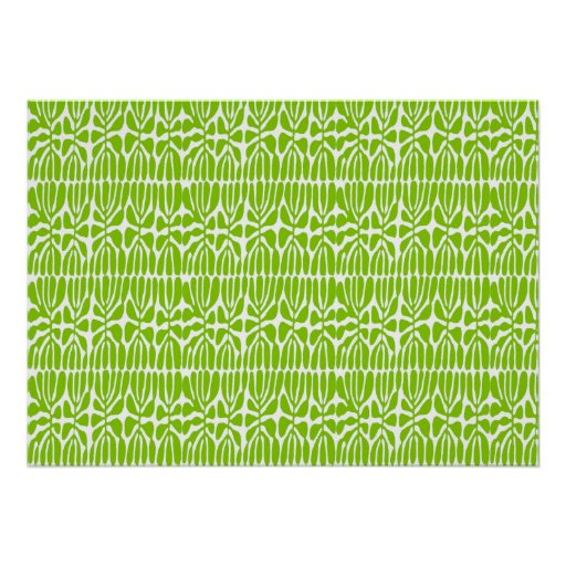 Green Leaves, Homage Matisse Poster