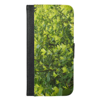 Green Leaves iPhone 6/6s Plus Wallet Case