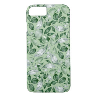 Green leaves iPhone 8/7 case