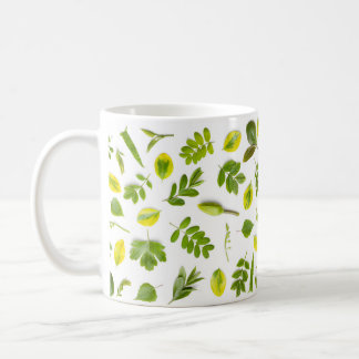 Green Leaves Isolated on White Background Coffee Mug