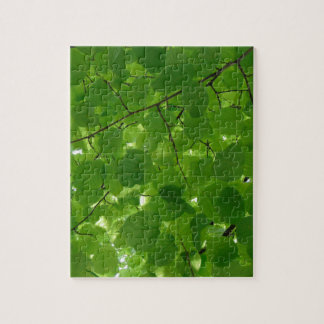 Green Leaves Jigsaw Puzzle