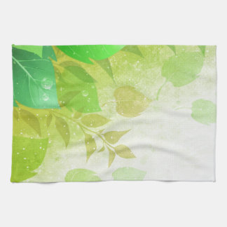 green leaves kitchen towel
