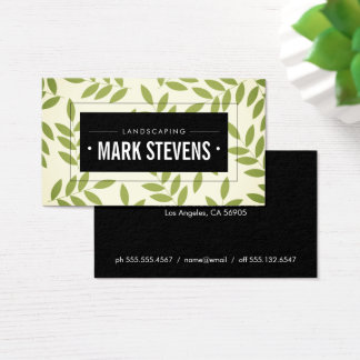 Green Leaves / Landscaping Business Card