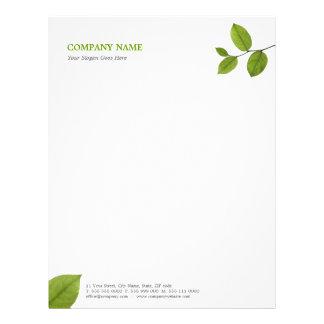 Green Leaves letterhead