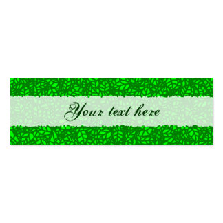 green leaves mini business card