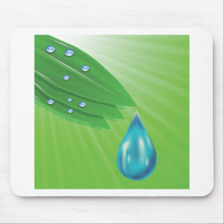 green leaves mouse pad