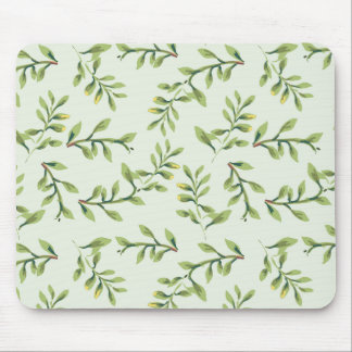 Green Leaves Mousepad