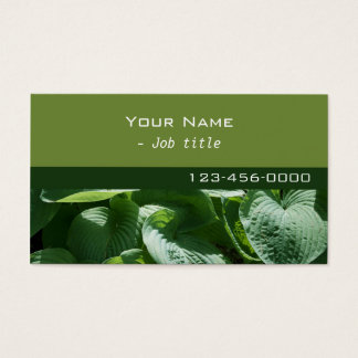 green leaves, nature, contemporary business card