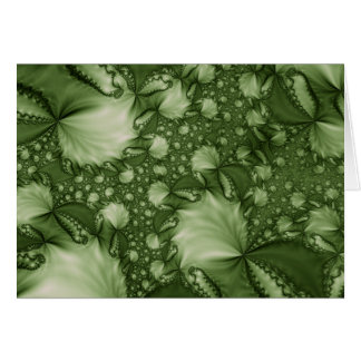 Green Leaves Note Card