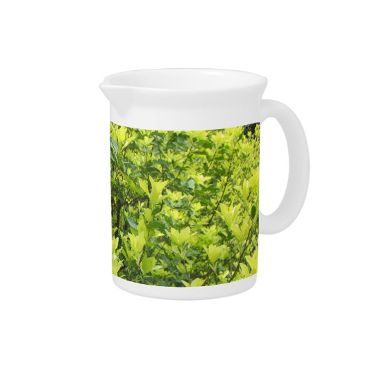 Green Leaves Pitcher