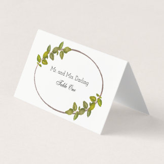 Green Leaves Place Card