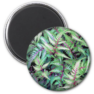 GREEN LEAVES, PURPLE STEMS by SHARON SHARPE mug 2 Inch Round Magnet