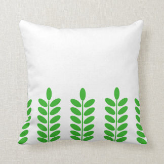 Green Leaves Seamless pattern Pillow