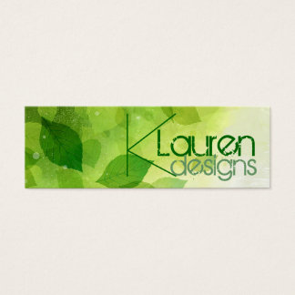 green leaves skinny business card