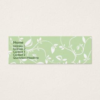 Green Leaves - Skinny Mini Business Card