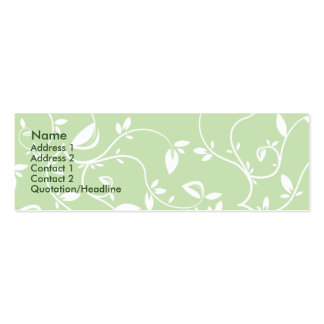 Green Leaves - Skinny Pack Of Skinny Business Cards