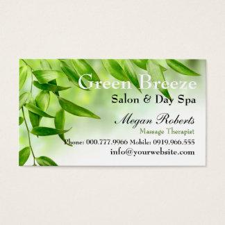Green Leaves Spa Skin Care Massage Salon Business Card