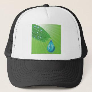 green leaves trucker hat