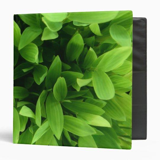 Green Leaves Vinyl Binders