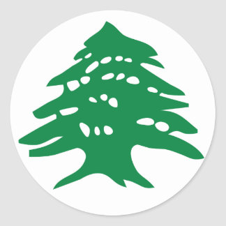 Green Lebanon Cedar Tree Classic Round Sticker