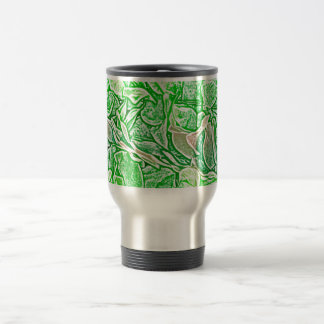 green lei sketch flowers neat abstract background coffee mugs